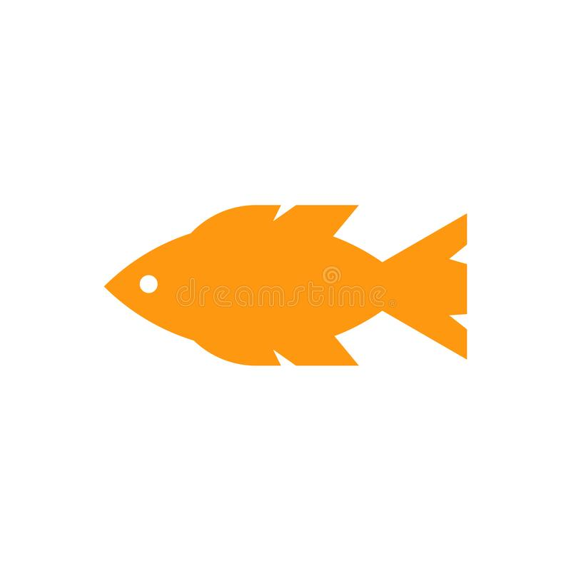 Fish icon vector sign and symbol isolated on white background stock illustration