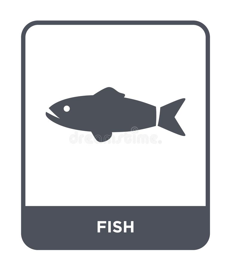 fish icon in trendy design style. fish icon isolated on white background. fish vector icon simple and modern flat symbol for web stock illustration