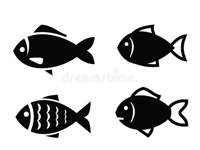 Fish icon royalty free illustration
