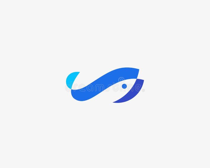 Fish idea logotype. Color overlay water logo. Universal sea food marine icon symbol. Fish idea logotype. Color overlay water logo. Universal sea food marine stock illustration