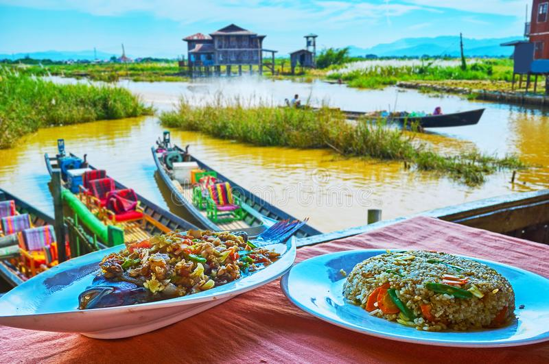 Fish of Inle Lake, Myanmar stock photography