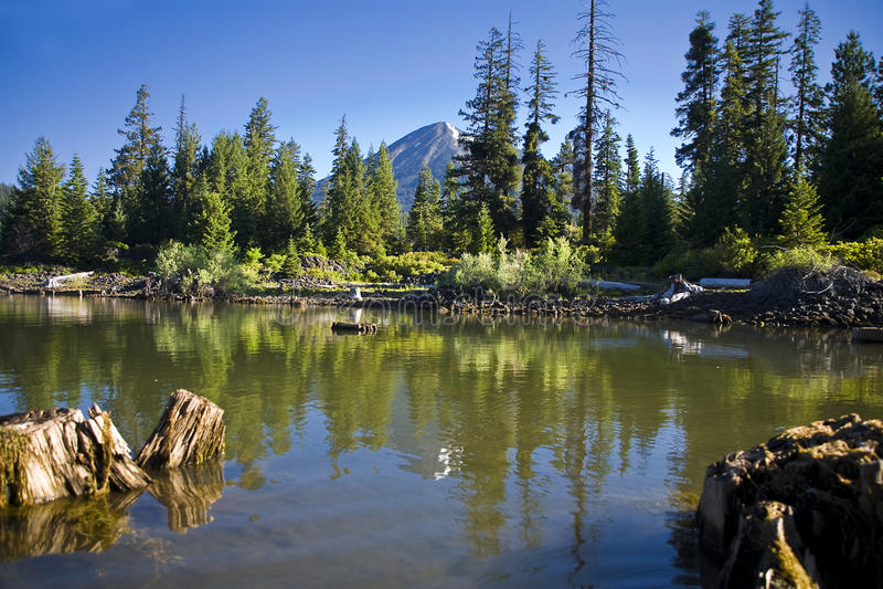 Fish Lake, Oregon stock photography