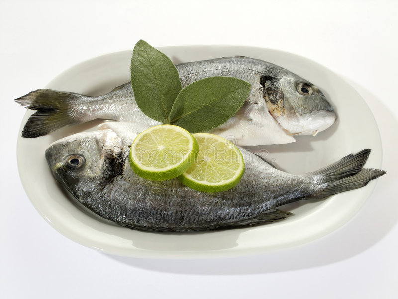 Download Fish with Lemon Slices stock image. Image of gourmet, restaurant - 6414933
