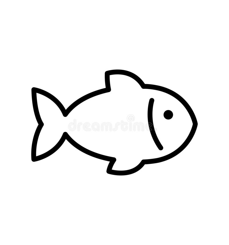 Free Fish Line Icon Vector Illustration Eps 10 Isolated Stock Images - 164007544