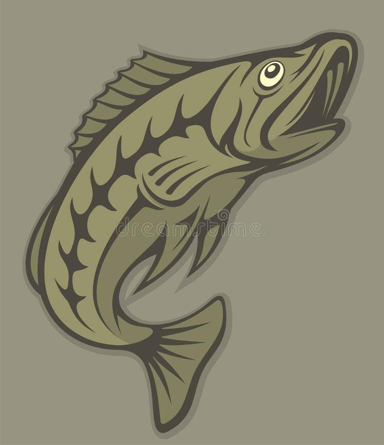 Fish lineart stock image