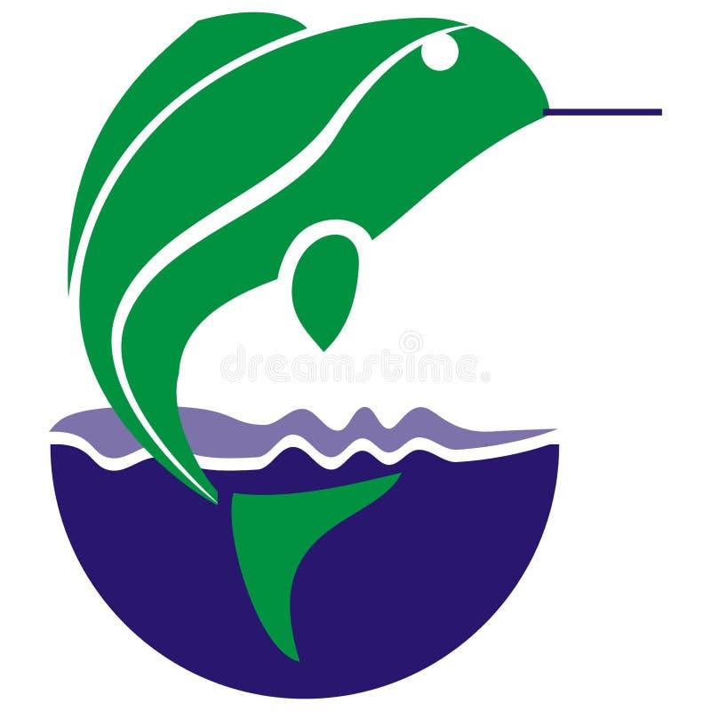 Fish logo stock illustration
