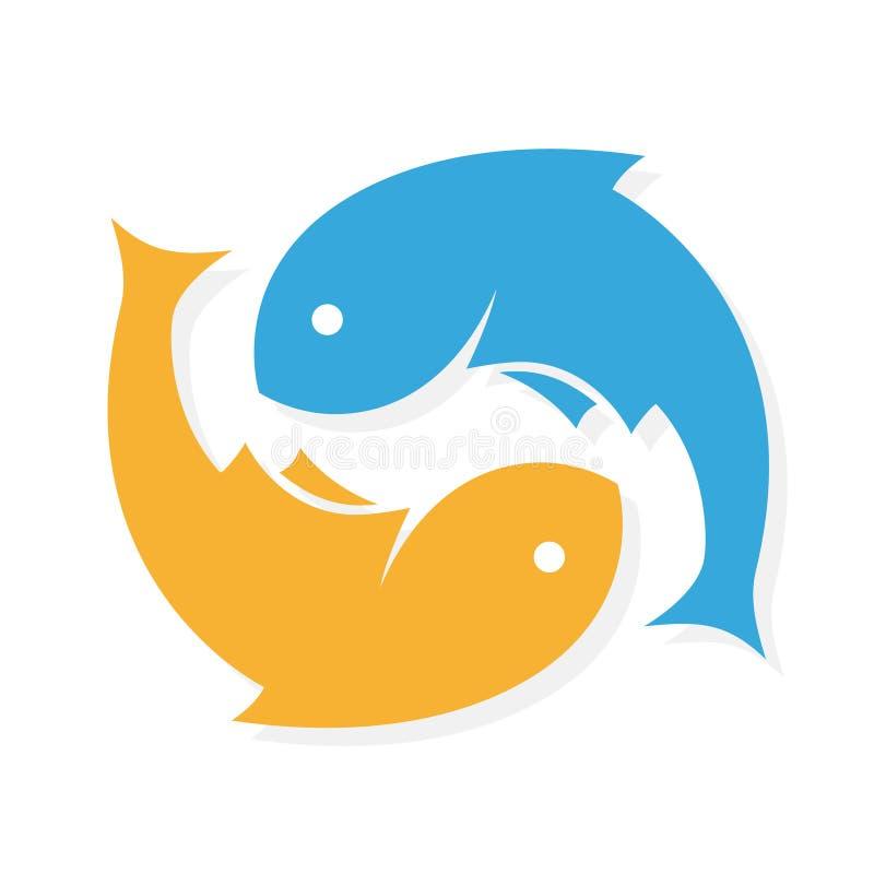 Fish Restaurant Abstract Vector Sign Symbol Or Logo Template:  Fish Logo Design Vector Template . Vector Infinity Stock