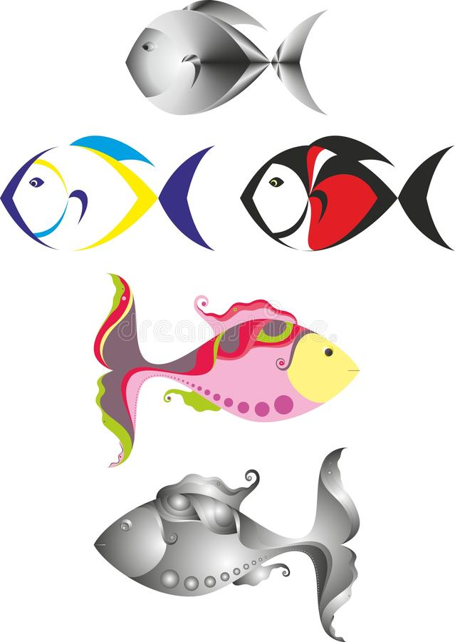 Download Fish logo stock vector. Illustration of fairy, cutout - 32074116