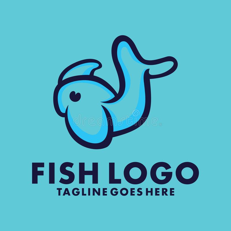 Fish Logo Design Inspiration For Business And Company vector illustration