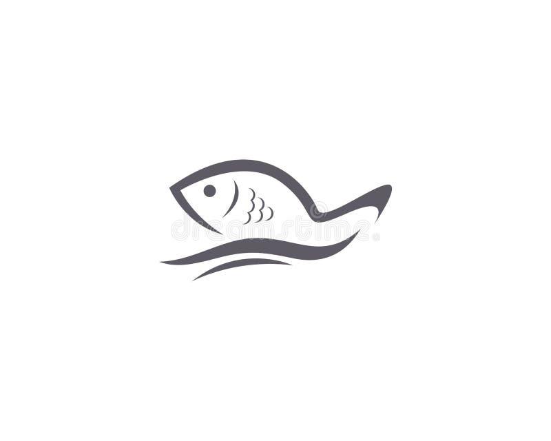 Fish logo template Creative vector symbol. Abstract, concept, design, draw, elegant, element, fishing, graphic, icon, isolated, label, line, marine, minimalis stock illustration