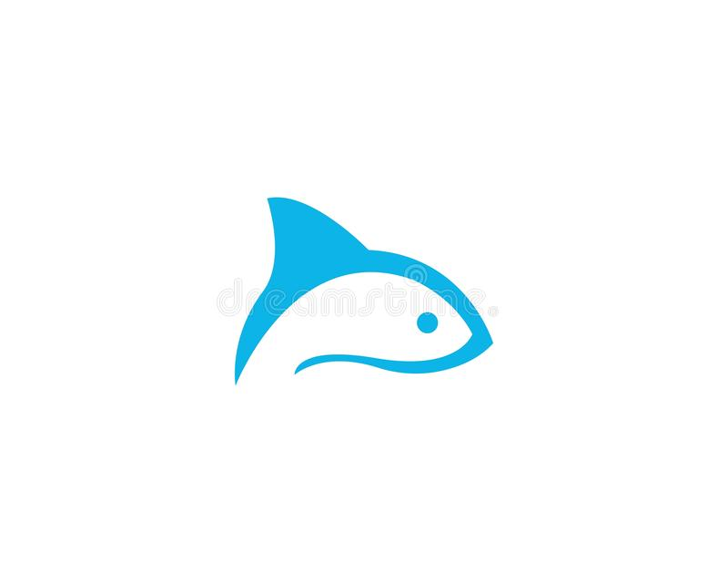 Fish logo template Creative vector symbol. Abstract, concept, design, draw, elegant, element, fishing, graphic, icon, isolated, label, line, marine, minimalis royalty free illustration