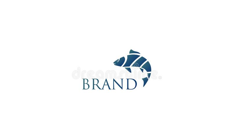 Fish logo template stock photos