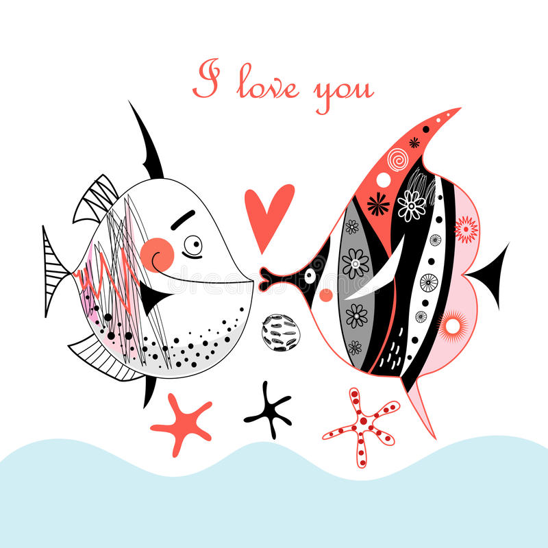 Download Fish lovers stock vector. Illustration of black, holiday - 26450296