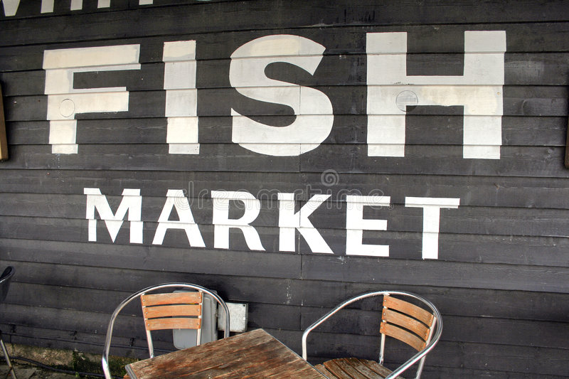 Download Fish market stock photo. Image of table, wooden, whitstable - 1420782