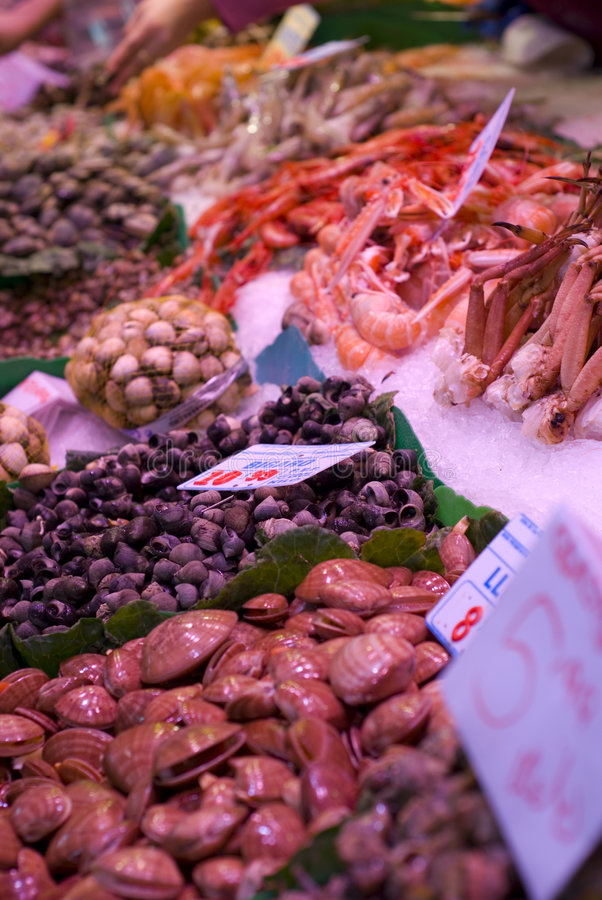 Download Fish market stock photo. Image of barcelona, clams, lobster - 2144340