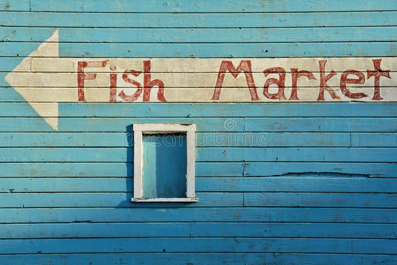 Fish Market. Bandon Oregon Fish Market near Old Town on the Coquille River royalty free stock image