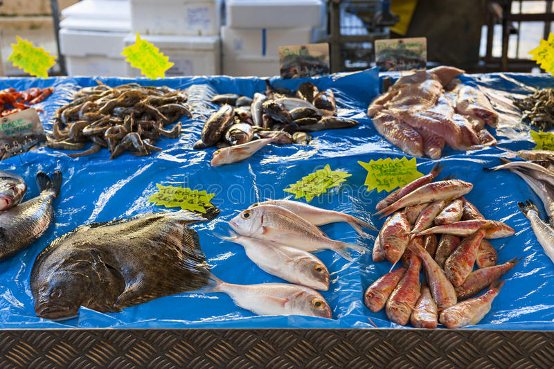 Fish market in old Nice stock photos