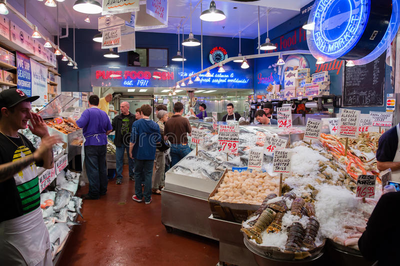 Fish market editorial stock image image 34020599 for Famous fish market in seattle