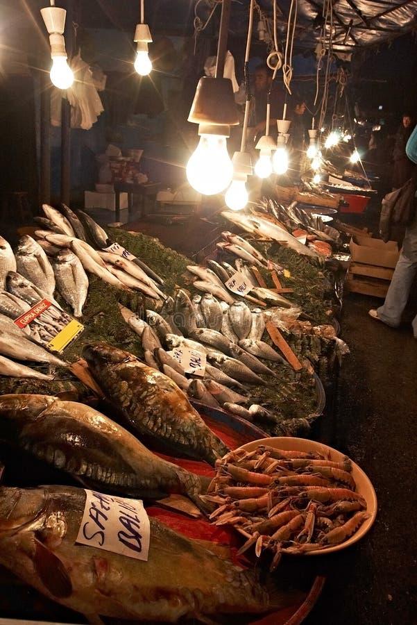 Fish market at Stambul, Turkey royalty free stock image