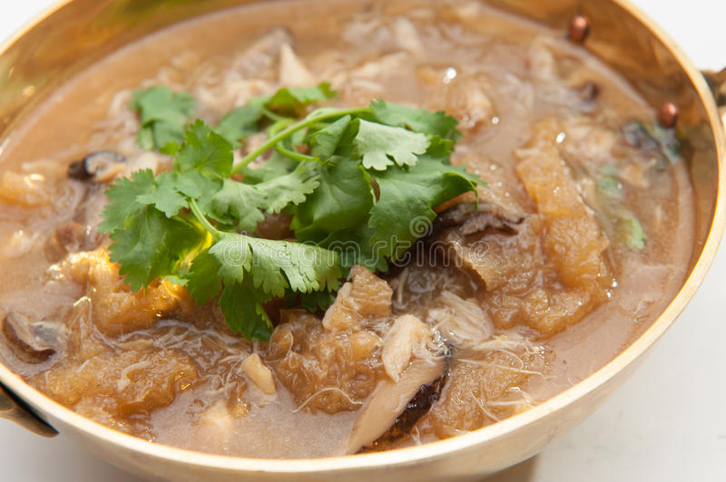 Fish maw soup royalty free stock photography