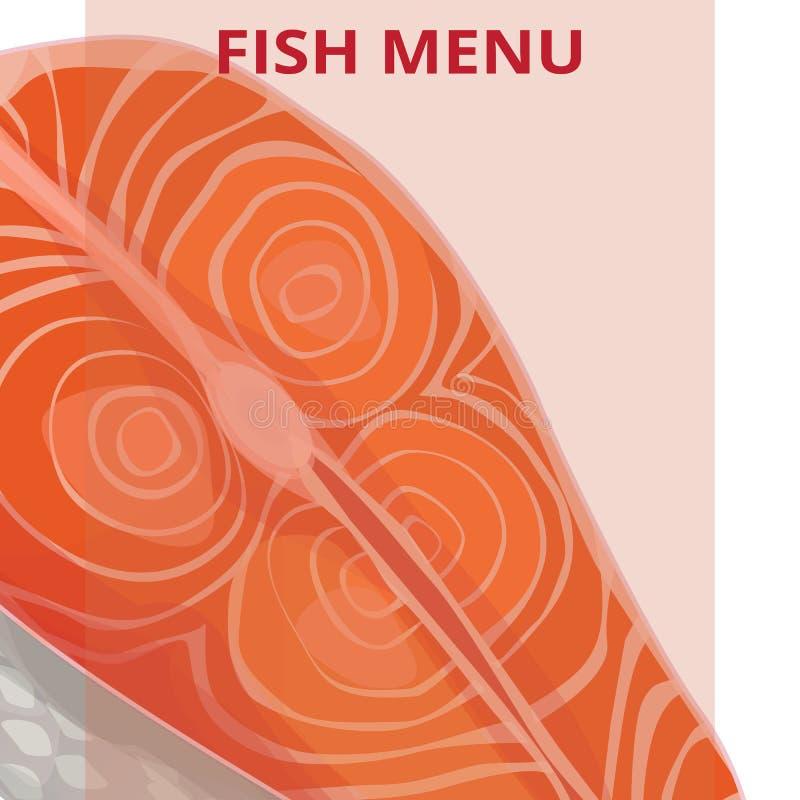 Fish menu, salmon stock illustration