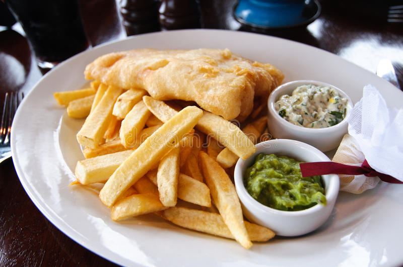 Fish'n chips. Fish and chips, one of Ireland's traditional meals royalty free stock photography