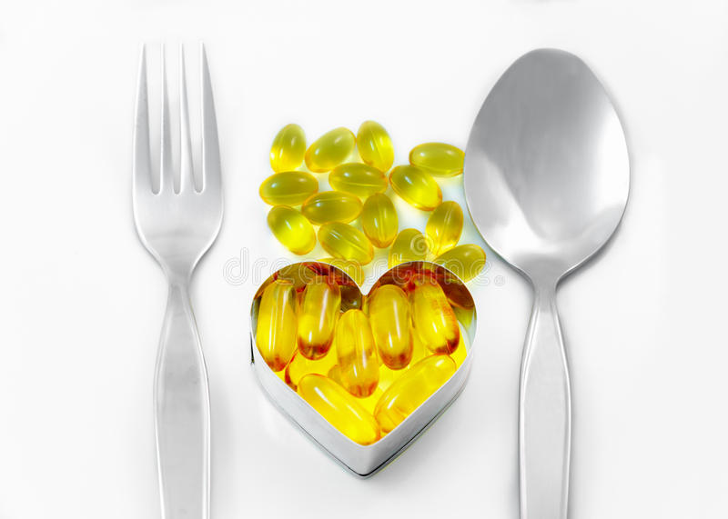 Fish Oil Capsule for Every Day meal royalty free stock photo
