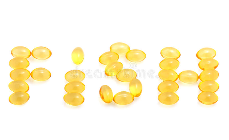Fish Oil Capsules Royalty Free Stock Photo
