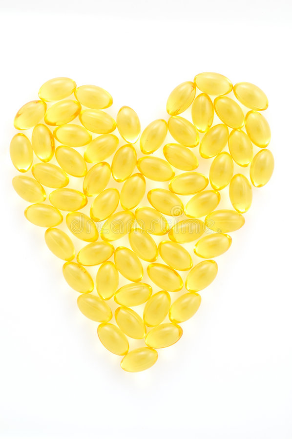 Fish oil heart stock images