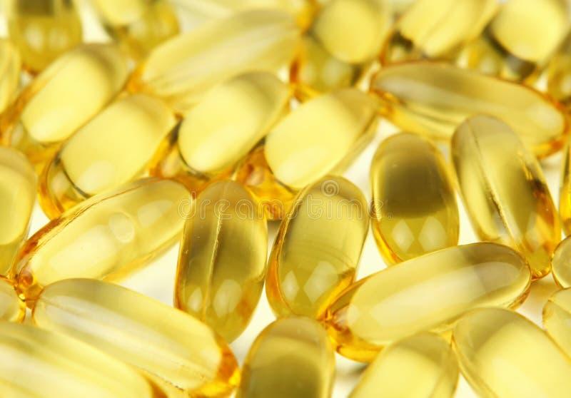 Fish Oil Pills stock photo