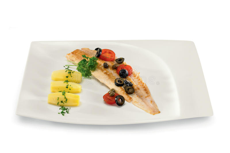 Download Fish with olives stock photo. Image of cooking, lunch - 17953546