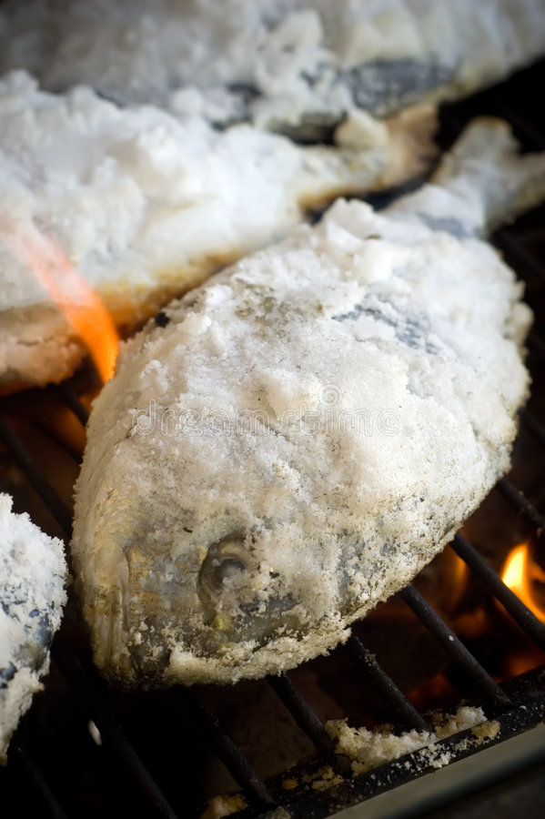 Free Fish On A Grill Royalty Free Stock Images - 3191589