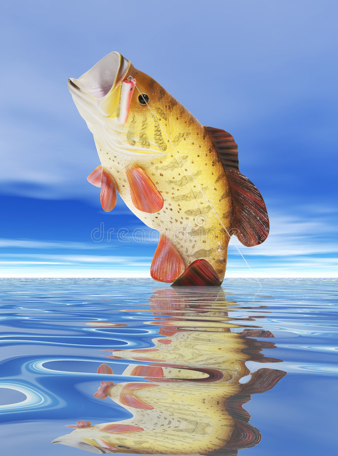 Free Fish On Lure Stock Image - 1405891