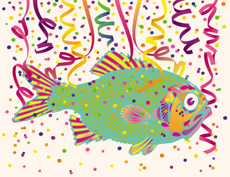 Download Fish and Party Confetti stock photo. Image of decoration - 17206032