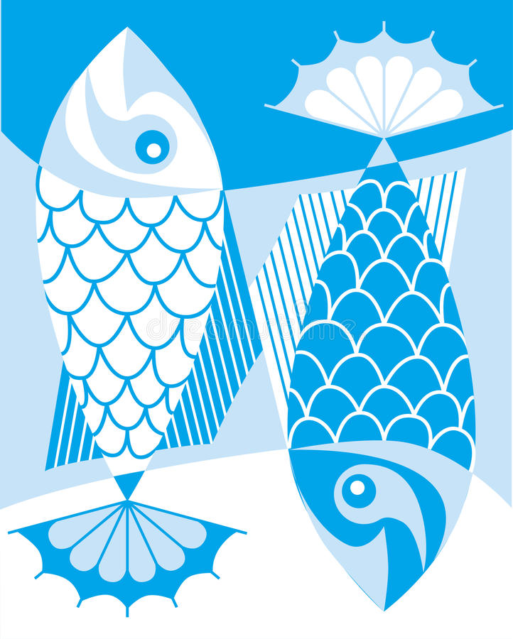 Download Fish pattern stock vector. Image of visa, fish, versa - 22945839