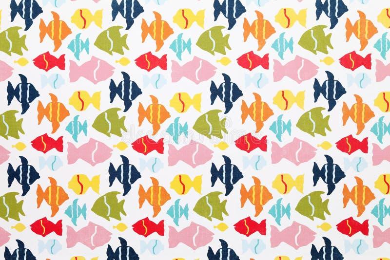 Fish pattern paper. Close up of fish pattern paper stock photo