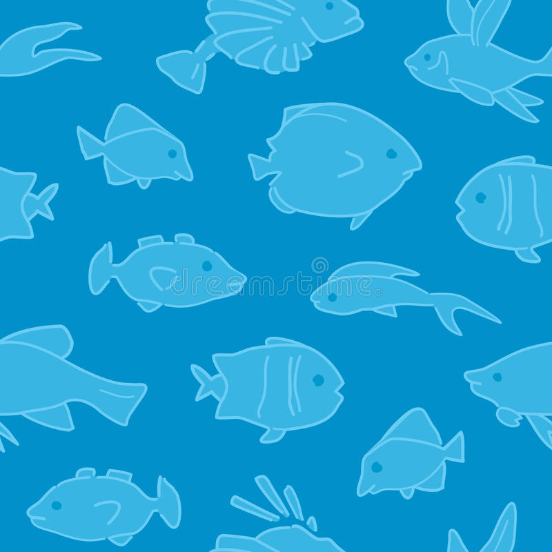 Download Fish Pattern Seamless stock vector. Illustration of swimming - 22882425
