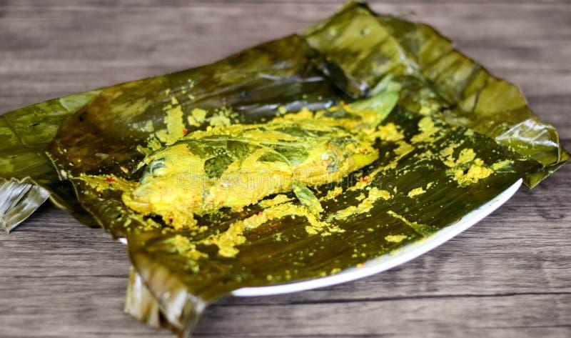 Fish Pepes. Pepes ikan or Fish Pepes. Indonesian food. Way to process foodstuffs usually for fish with banana leaves to wrap the fish and its marinade stock photos