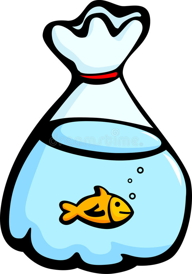 fish in a plastic bag vector illustration vector illustration