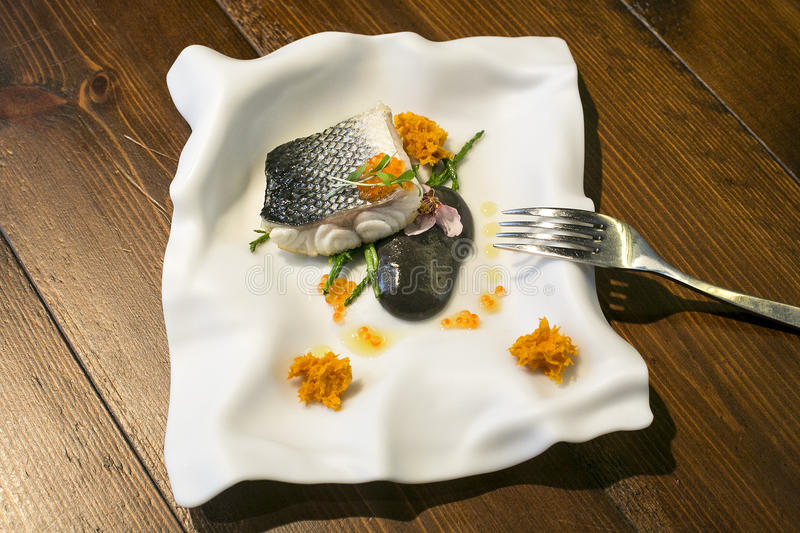 Fish plate plate stock image