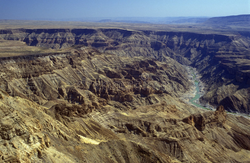 Fish River Canyon. Huge canyon carved out of the desert by the Fish River in Namibia stock photography
