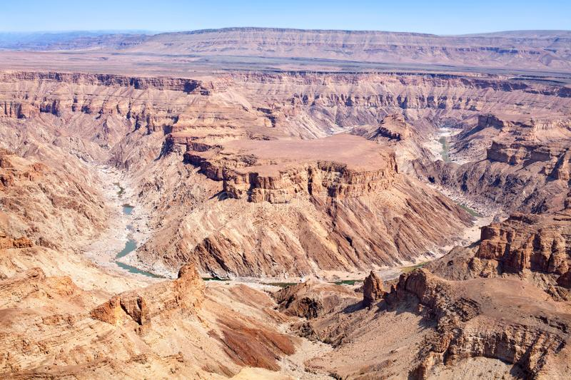 Fish River Canyon in the dry season, Southern Africa, Namibia stock photos