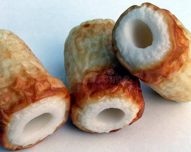 Fish roll cakes-uncommon position stock photos