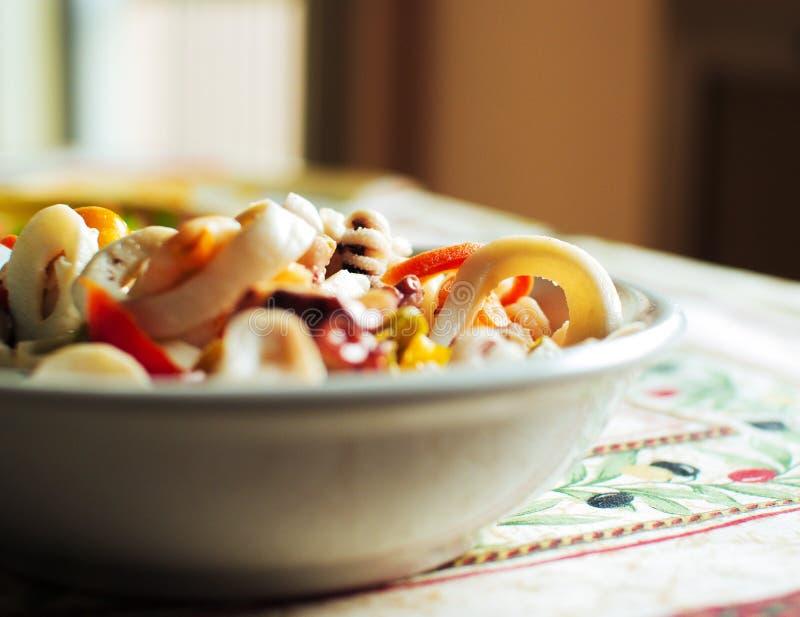 Fish salad stock photography