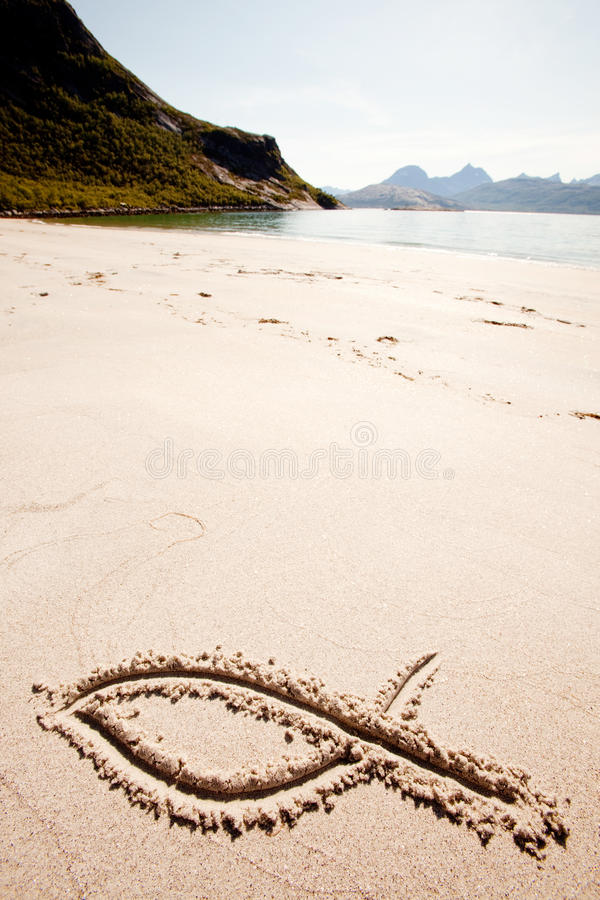 Download Fish Sand Symbol stock photo. Image of christianity, religious - 11580676