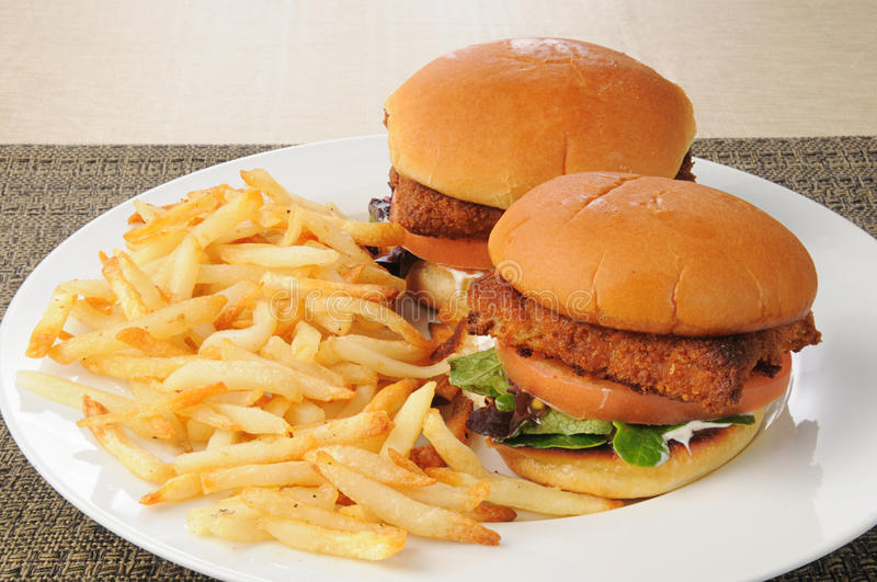 Fish sandwiches and fries
