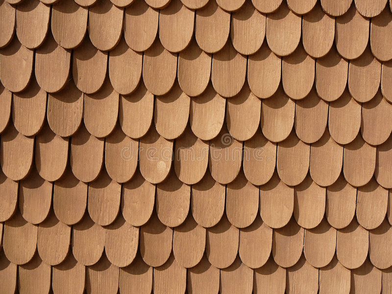 Fish Scale Design on Wall (Schachen Haus) royalty free stock photography