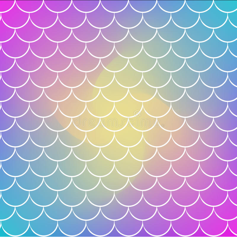 Fish scale and mermaid background royalty free illustration
