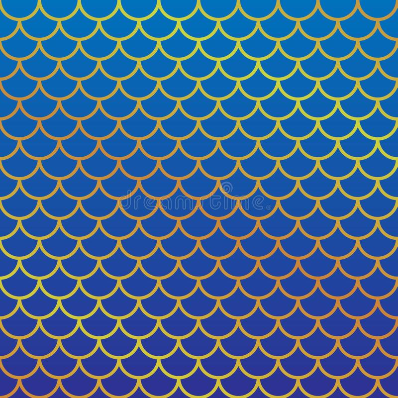 Fish scale pattern. Girlish fish scale pattern. Vector illustration stock illustration
