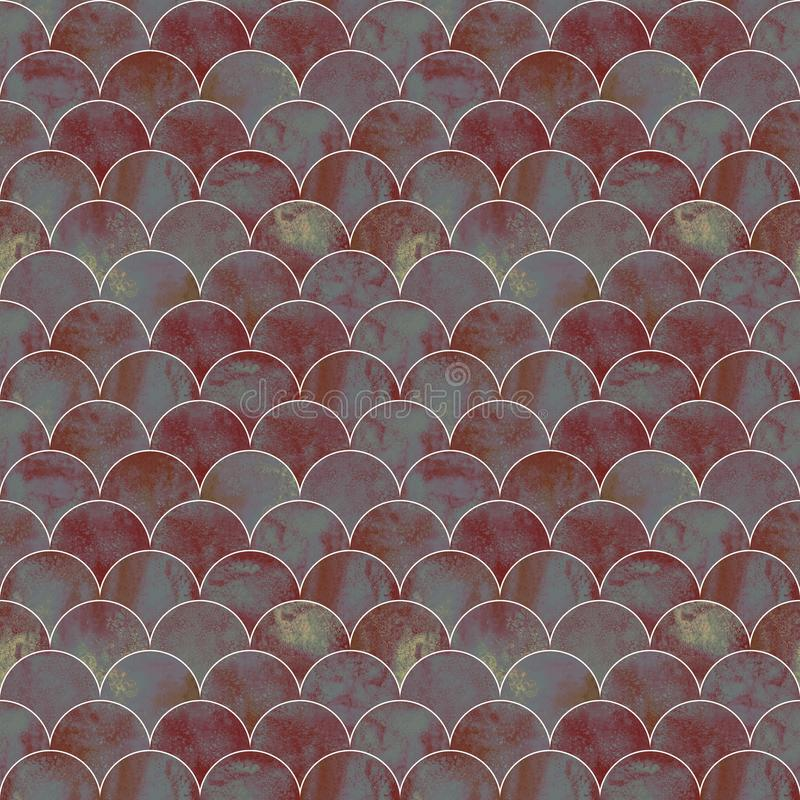 Fish scale wave japanese seamless pattern stock photo